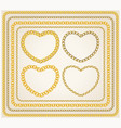 set frames golden chains vector image