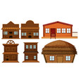 set of wooden house vector image