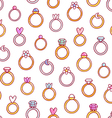 Shiny diamond rings pattern vector image vector image