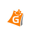 shopping online initial g vector image vector image