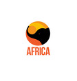 silhouette africa elephant logo vector image vector image