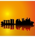 Singapore skyline Black silhouette vector image