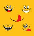 smile emotion icon vector image