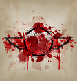 star symbol with blood war concept vector image