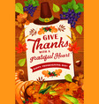 Thanksgiving day autumn holiday greeting card