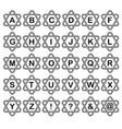 triangular alphabet vector image vector image