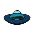 ufo spaceship icon in cartoon style on a white vector image vector image