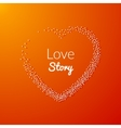 Valentine Dot Background with Heart shape Love vector image vector image