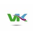 VK logo vector image vector image