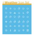 Weather icon set vector image