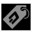 white halftone dash token icon vector image vector image