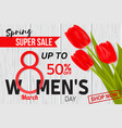 womens day sale design for web banner flyer or vector image vector image