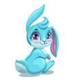 little cute sitting bunny girl vector image