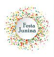 festa junina brasil festival abstract pattern vector image