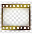 film strip cinema of photo frame strip vector image