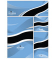 abstract botswana flag background vector image vector image