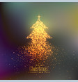 abstract christmas tree made with particles vector image vector image