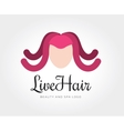 abstract octopus hairstyle logo template vector image vector image
