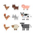 animals flat vector image