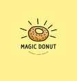bakery and donut logo vector image