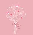 bouquet meadow flowers vector image