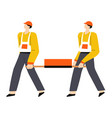 building or construction works builders in vector image vector image