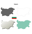 Bulgaria outline map set vector image vector image