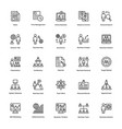 business and finance line icons 10 vector image