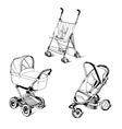 children strollers vector image