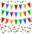 Colorful confetti pattern vector image vector image