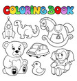 coloring book toys theme 1 vector image