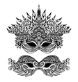 Decorative Carnival Mask vector image