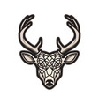 deer head icon isolated on white background vector image vector image