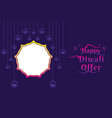 diwali festival offer poster design layout vector image