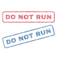 do not run textile stamps vector image vector image