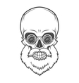Evil Bearded Jolly Roger with glasses logo vector image vector image