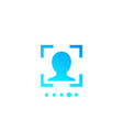 face recognition biometric scanning icon vector image