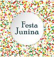 festa junina brasil festival pattern made of vector image vector image