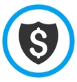 Financial Shield Flat Rounded Icon vector image vector image