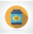 Flat color icon for gainer supplements vector image vector image