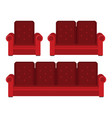 flat sofa isolated on white background vector image vector image