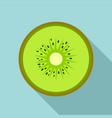 half of kiwi icon flat style vector image vector image