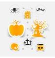 Halloween sticker concept vector image