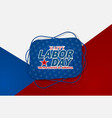 happy labor day design usa national holiday vector image vector image