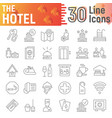 hotel thin line icon set service symbols vector image