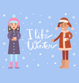 i like winter snowflakes vector image vector image