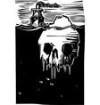 Iceberg Skull vector image vector image