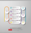 infographics timeline element with 3d paper label vector image