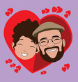 isolated happy couple vector image
