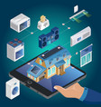 isometric smart home concept vector image vector image